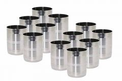 Stainless Steel 250 ml Drinking Water Glass (Color: Silver) (Pack of 12)