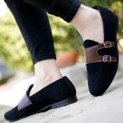 Men's Casual Material  Double Monk Loafer & Moccasins Shoes