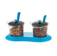 Multipurpose Dining Set Jar and tray holder, Chutneys/Pickles/Spices Jar - 2pc