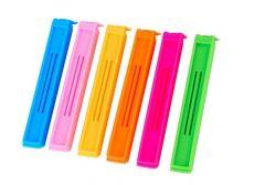 Multipurpose Food Snack Plastic Bag Clip Sealer (Multicolor) -12pc