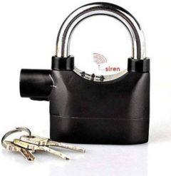 Boxerdoll Steel Alarm Lock with high Security Design Sensor Alarm Padlock for Home, Office Safety Lock  (Black) | (Pack of 1)