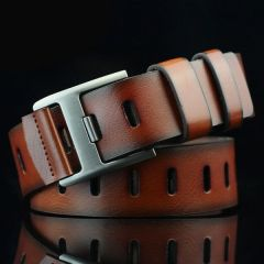 Stylish Casual Artificial Leather Belt Best for Men's (Brown)