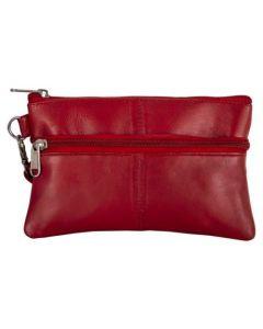 ASPENLEATHER Wristlet Bag for Women (Red)