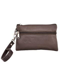 ASPENLEATHER Wristlet Bag for Women (Brown)