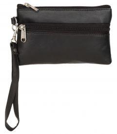 ASPENLEATHER Wristlet Bag for Women (Black)