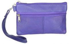 ASPENLEATHER Wristlet Bag for Womens (Light Blue)