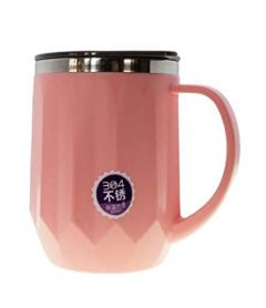 XINGLI Thermos Insulated Stainless Steel Vacuum Mug/Cup with LID for Coffee , Tea , Milk and Beverages (Pink)