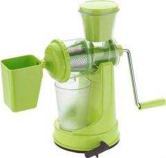 Nilkanth Fashion Fruit and Vegetable, Manual Hand Juicer | Non-Electric with Steel Handle and Waste Collector (Green)