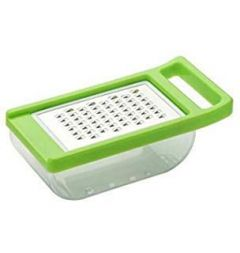 N Creation Green Color Cheese and Vegetable Grater with Storage Container