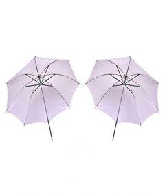 WON White Umbrella for Studio Strobe Flash -2 Pieces