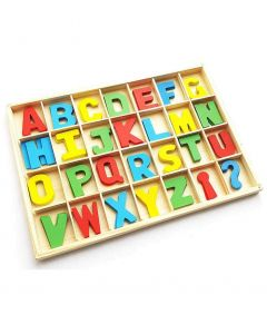 MohitEnterprises | Toddler Toys Wooden Board with Capital Letters - Multicolor | Pack of 1