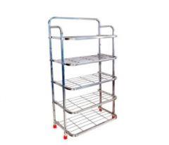 Aquiriosindia Elegant Design Stainless Steel Shoe Stand (5Rack) | (Pack of 1)