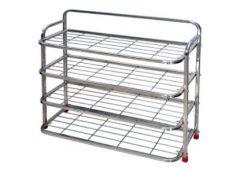 Aquiriosindia Elegant Design Stainless Steel Shoe Stand (3Rack 24x24) | (Pack of 1)