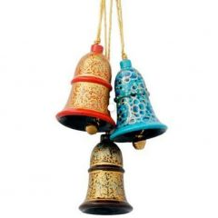 Dehqaniandbros Stylish Paper Mache Hand Painted Hanging Bells (Pack of 3)