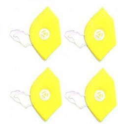 Boxerdoll Reusable Air Purifying Respiratory Yellow Mask (Free Size) | (Pack of 4)