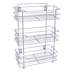 Vaishvi Stainless Steel Chrome Finish Multipurpose 3 Tier Kitchen Rack | Storage Shelf | Cutlery Storage Rack | Dish Rack | Storage Rack for Kitchen and office