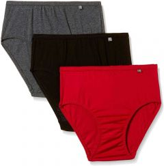 JOCKEY Comfortable and Elastic Pure Cotton Panty For Women's (Multi-Color) (Pack of 3)