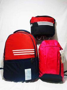 Casual 3pc Unisex Bagpack combo 1 big Bagpack 1 medium size Bagpack 1 pc Tiffin Storage Bag (Pack of 3)