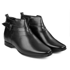 BXXY 3.5 Inch Height Increasing Formal And Casual Pu Leather Derby Boots for All Ocassions