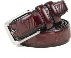 Winsome Deal Artificial Leather Casual Belt's for Men's (Maroon)