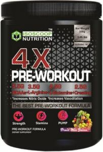 Iso scoop nutrition 4* Pro-Workout Mix Frut Protein Powder Mixed Fruit flavored 0.35 KG BCAA  (350 g, Mixed Fruit)