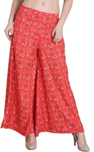 Women's Relaxed OrangePoly Crepe Trousers