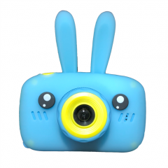 HDLiang Kids Digital Camera For 3-9 Years Old Girls Gifts, Children Mini Shockproof Video Cameras, Toddler Little Girl Cute Cartoon Rabbit Soft Silicone Learning Toys Cameras For Birthday With Tf Card (Blue)
