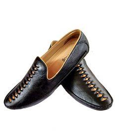 Hillsvog Stylish Men's Loafers Shoes (Black)