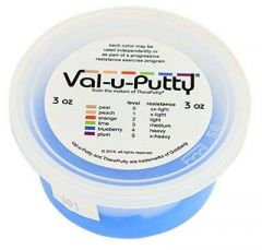 Albio Exercise Putty Val-u-Putty 3 oz Quantity For Hand Physiotherapy & Rehabilitation - Blueberry