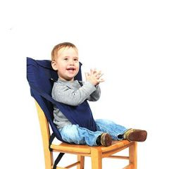 Kidsafe Portable Baby Chair Belt for Feeding (Black New) (3a Navy Blue)