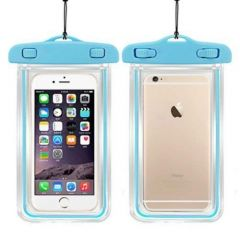 Poveria Transparent Waterproof Mobile Pouch Bag + Sling for All Smartphone