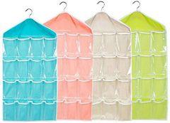 Nilkanth Fashion Wardrobe Mount 16-Grid Bag Hanging Wall Pocket Storage Case (1 Piece)