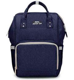 Move On Nursing Waterproof Multi Functional Diaper Backpack (Blue)
