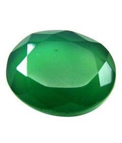 Jewelzon Certfied Green Onyx (Haqiq) 4.25 to 4.80 Ratti Birthstone Stone   Sterling Silver   Certified