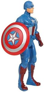 WON Avengers 2 Captain America Age of Ultron Action Figure 19cms with LED Light on Chest with Hands, Legs Movable (Blue)