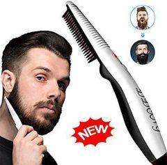 Nilkanth Fashion Mobily Electric Beard Straightning Comb Mens Beard Hair straightning Comb Brush (Black & White)