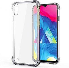 Hummer Tech Back Cover Soft Slim Shockproof Back case for Samsung a10 (Transparent)