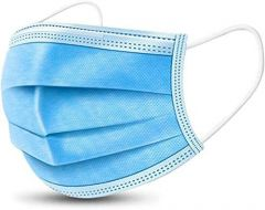 Akashkrishna 3 Ply Disposable Face Masks Protection Safety Mask for Air Pollution Personal Protective Mouth Indoor and Outdoor Use  Blue(pack of 10)