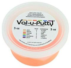 Albio Exercise Putty Val-u-Putty Hand Physiotherapy & Rehabilitation - Orange