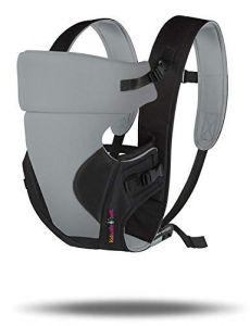 Move On 4-in-1 Polycotton Adjustable Baby Carrier Sling Backpack Bag (4.Grey & Black)