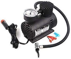 Nilkanth Fashion Electric Air Compressor Inflator Pump for car | Bike tubeless tyre. 12V 300 PSI air Pump for Bicycle | Football | Basketball (Black)
