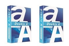 Double A Office/Schools Essentials A4 Sheets, 70 GSM, 500 Sheets, 2Ream (Pack Of 2) (White)