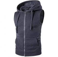 Fashion Gallery Men's Jackets for Winter| Fleece Sleeveless Hooded Sweatshirt Jacket|Men's Casual Jacket, X-Large