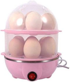 Nilkanth Fashion  Double Layer Egg Boiler 14 Egg Electric Cooker Plastic Egg Steamer for Home Food Boiling Cooker with Measuring Cup