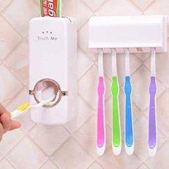 RS Future Automatic Toothpaste Dispenser and Tooth Brush Holder for Home Bathroom Accessories