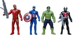 WORLD OF NEEDS Avengers Toys Set - 4 in 1 Set Toys - 4 Action Hero Collection (Assorted Design and Figures)