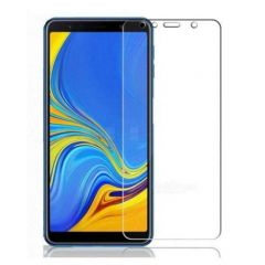 Generic Tempered Glass Guard 2.5D Curved Print Screen Protector for Samsung Galaxy A7 2018 Transparent