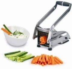 Het creations Stainless Steel Home French Fries Potato Chips Strip Cutting Cutter Machine Maker Slicer Chopper