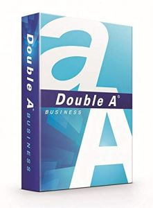Double A School/Office Essentials A4 Sheets, 75 GSM, 500 Sheets, 1 Ream (White)