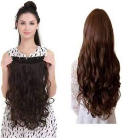 Akashkrishna Hair Extensions And Wigs Brown Wavy Hair Extension For Girls And Women